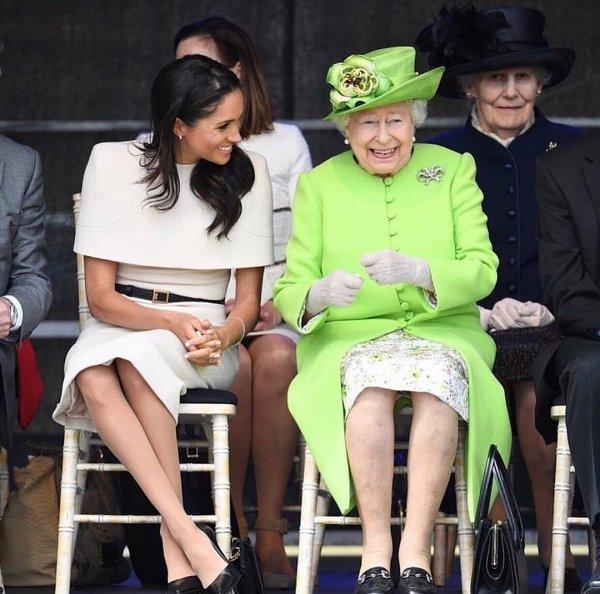 Меган Маркл успела подружиться с королевой Елизаветой II