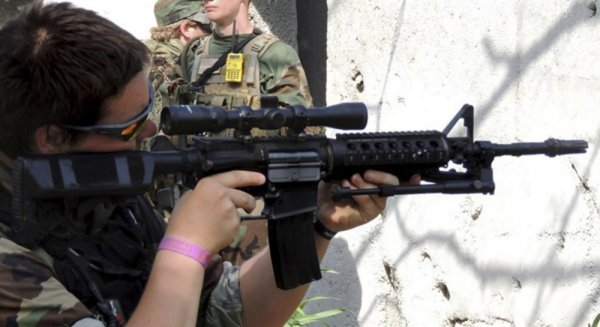 К Третьей мировой готовы: Американских солдат вооружат пейнтбольными винтовками
