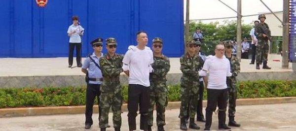 В Китае к смертной казни на спортивной площадке приговорили наркоторговцев