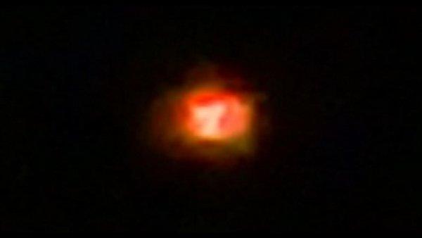 В Калифорнии обнаружили огненный НЛО