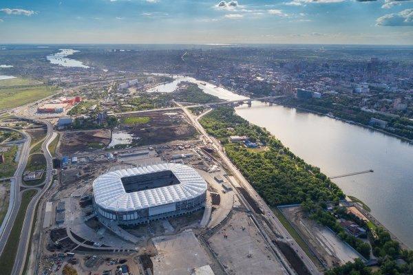 «Пыль в глаза»: Возле стадиона в Ростове посадили временные деревья