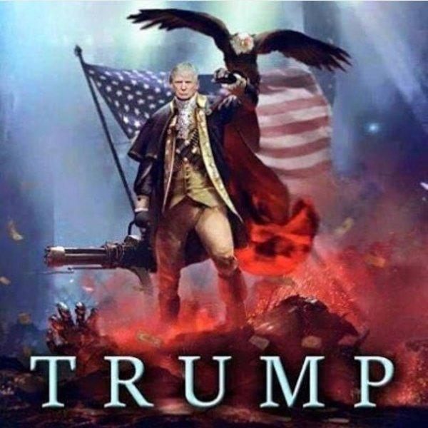 Дональд Трамп в военной форме и с пулеметом в руках испугал американцев