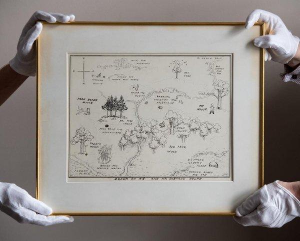 Карту и книгу про Винни-Пуха продали с молотка за 570 тысяч долларов