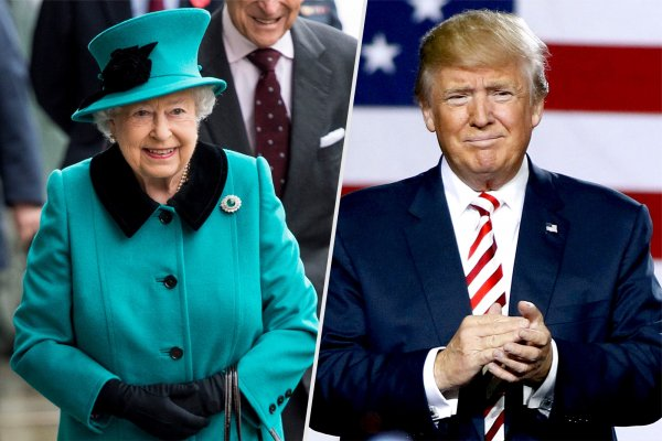 Трамп опоздал на чай с Елизаветой II