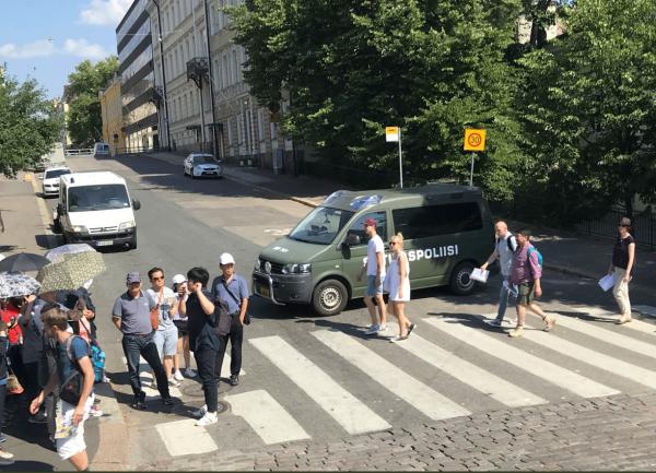В Хельсинки заметили неимоверное количество полиции накануне встречи Путина с Трампом