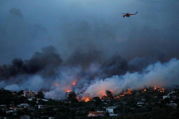 Причиной пожаров в Греции мог стать поджог