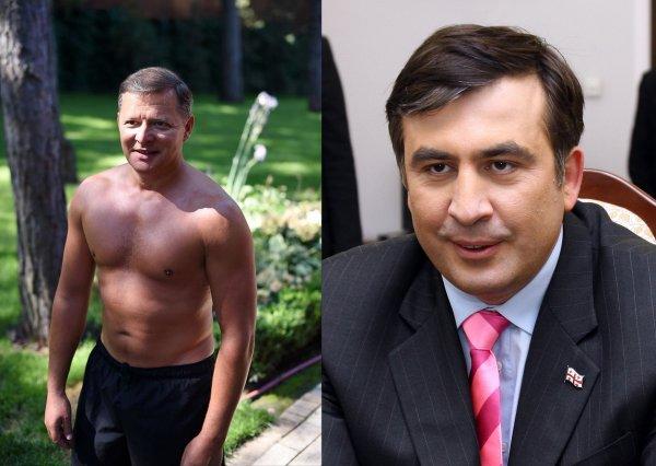 Ляшко с голым торсом закосил под Путина, а Саакашвили оскорбил Медведева