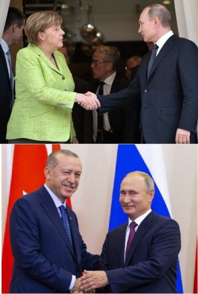 Путин в Стамбуле встретился с Меркель и Эрдоганом