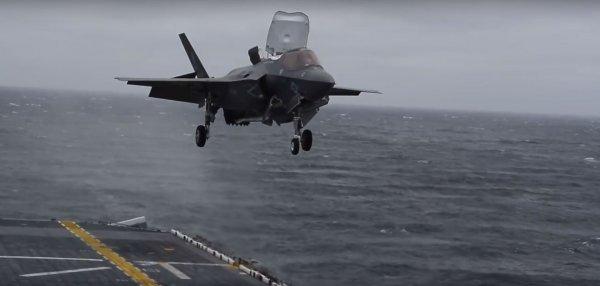 В Сети появилось видео вертикальной посадки F-35B