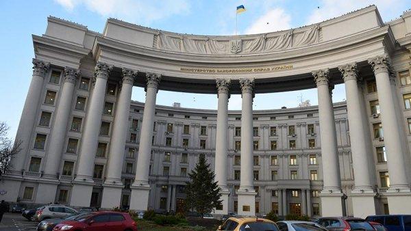 МИД Украины выражает протест в связи с посещением Путиным Крыма