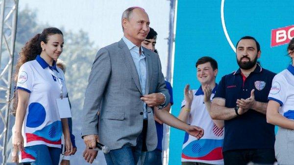 Путин приехал в Ставрополье на молодежный форум «Машук-2018» в Пятигорске