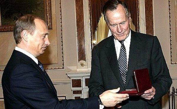 Путин отреагировал на новости о смерти Джорджа Буша-старшего
