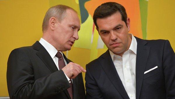 Алексис Ципрас дал слово надеть на следующую пресс-конференцию подарок Путина