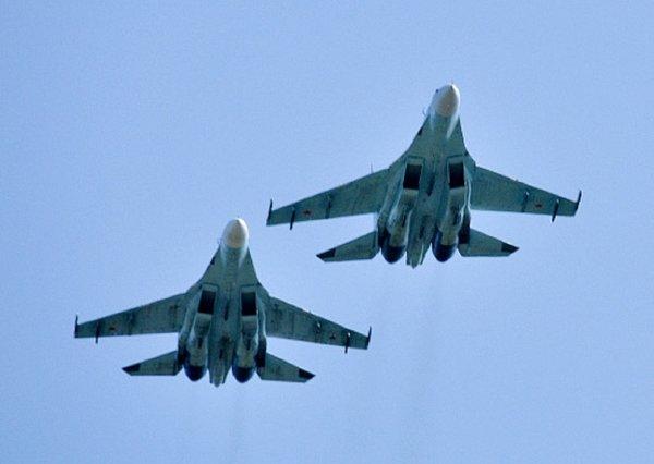 «Как ворону паршивую»: Пользователи Сети обсуждают перехват Су-27 истребителя НАТО