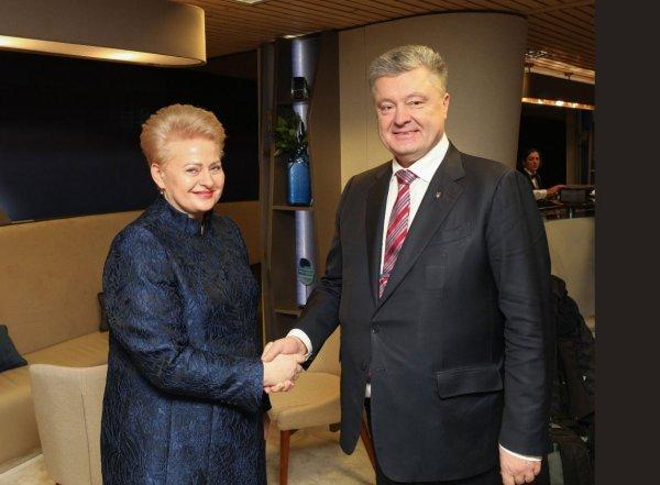Порошенко договорился с президентом Литвы «консолидировано давить» на Россию
