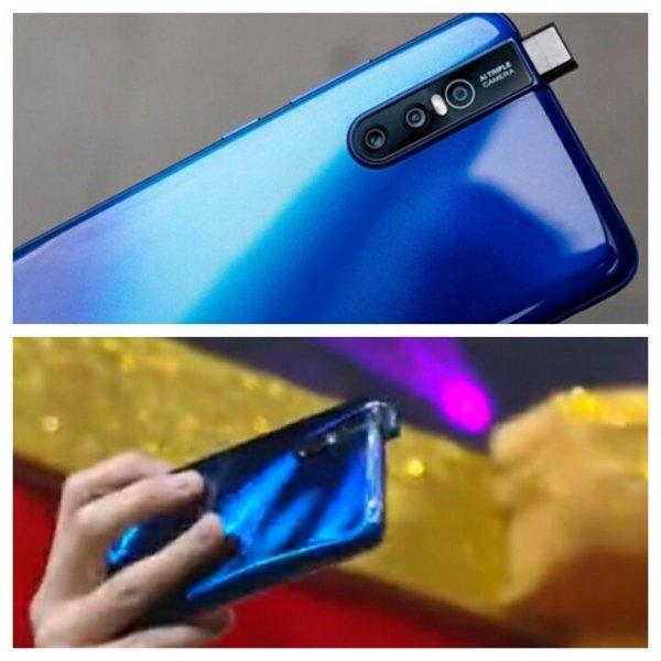 Vivo X27 с всплывающей камерой был замечен на китайском телешоу в цвете Topaz Blue
