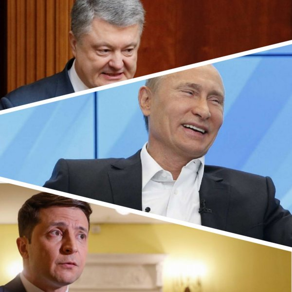 «Ты не туда воюешь»: Порошенко перепутал Владимира Путина с Владимиром Зеленским