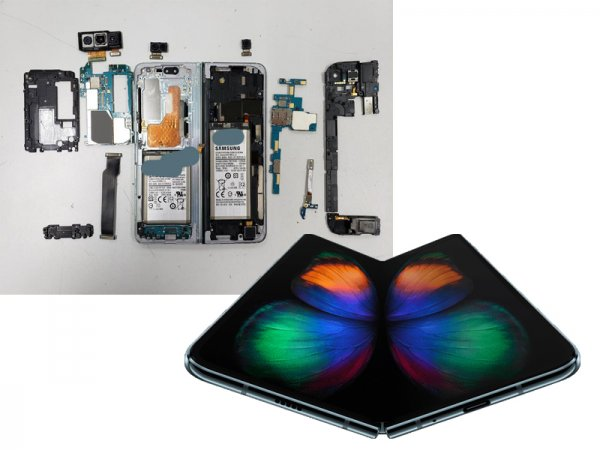 В два раза взрывоопаснее: В Сети показали начинку сгибающегося смартфона Samsung Galaxy Fold