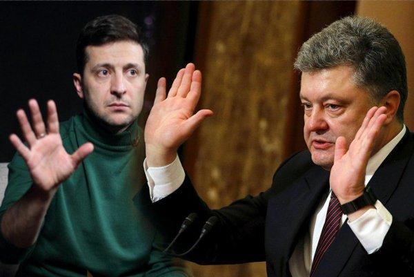 «Государственная власть важнее страны»: Зеленский и Порошенко встали на колени во время дебатов