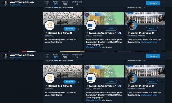 Братских народов союз вековой: Владимир Зеленский подписался на twitter-аккаунта Дмитрия Медведева