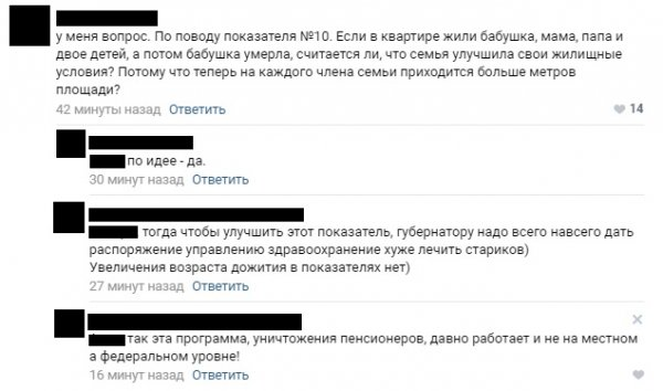 Бабушка умерла – жить стало лучше: В сети нашли лазейку для губернаторов в показателях оценки Путиным их эффективности