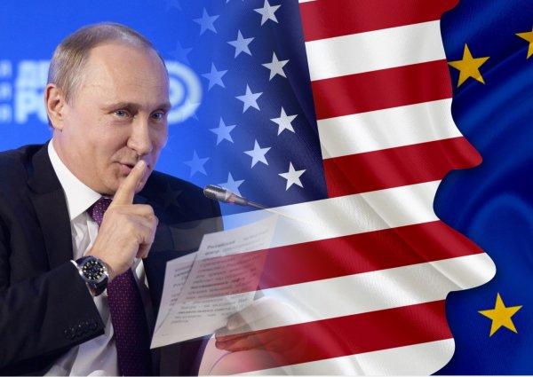 Где-то Путин потирает руки: Раскол между США и Германией ускорит отмену антироссийских санкций