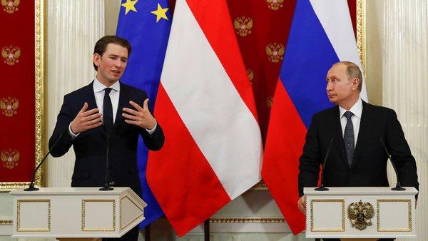 Политический скандал в Австрии грозит репутации Путина