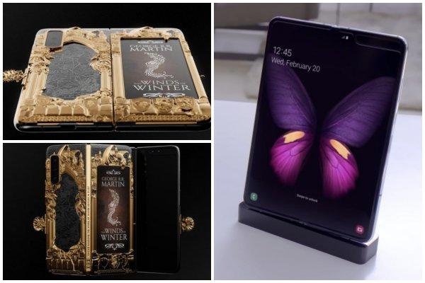 Для фанатов «Игры престолов» создан золотой Samsung Galaxy Fold за 500 тысяч рублей