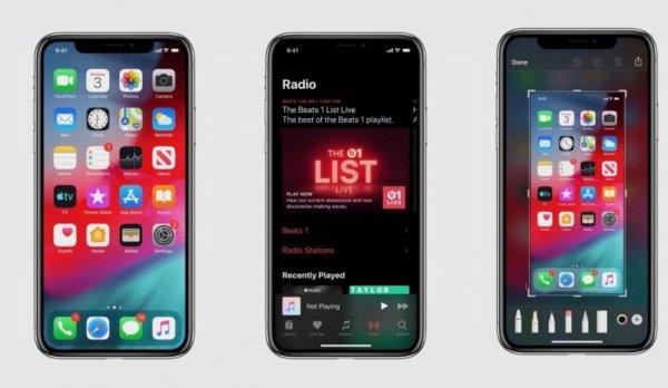 В Сеть «слили» фото тёмной темы в iOS 13
