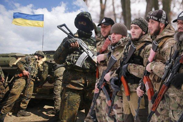 Чеченских боевиков разоружила украинская полиция