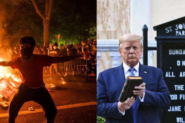 Поступок Дональда Трампа возле церкви в Вашингтоне осудил епископ