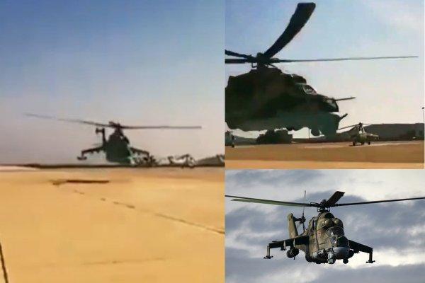 Сирийские лётчики исполнили «бреющий» полёт на вертолёте Ми-25