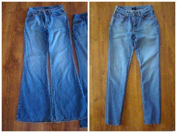 Как заузить джинсы клеш в домашних условиях без навыков